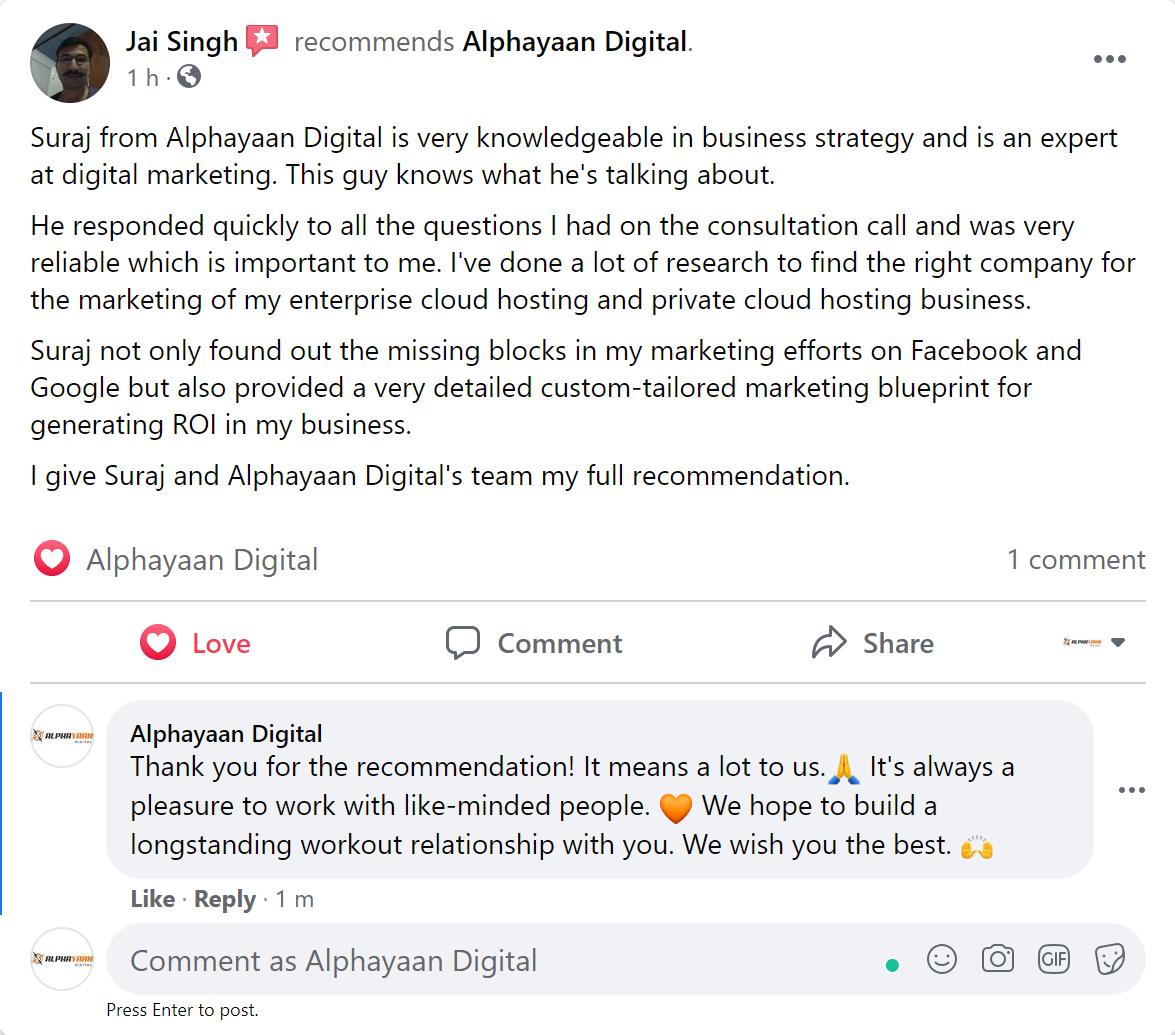Alphayaan Digital FB Review - Jai Review